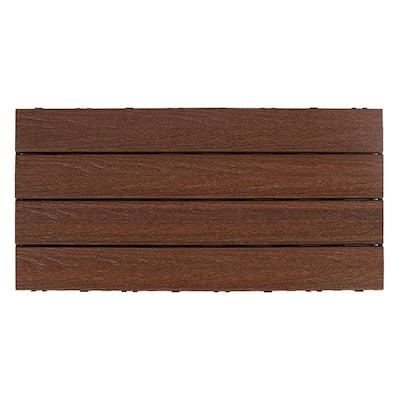 UltraShield Naturale 1 ft. x 2 ft. Quick Deck Outdoor Composite Deck Tile in Brazilian Ipe (20 sq. ft. per Box)