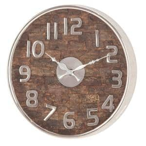 Rustic 13 in. x 13 in. Round Wall Clock