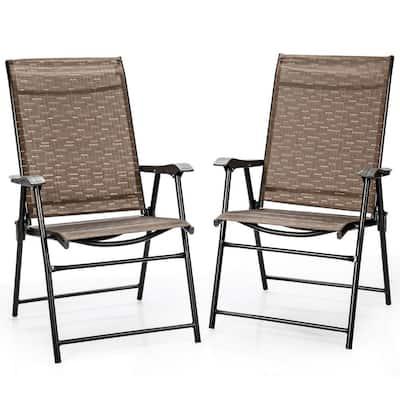 Metal Folding Lawn Chairs ( Set of 2)