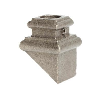Satin Clear 16.3.36 Angled Base Shoes for 5/8 in. Round 1.3 in. x 2 in. Iron Balusters for Stair Remodel
