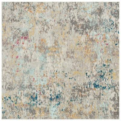Madison Gray/Gold 9 ft. x 9 ft. Square Area Rug