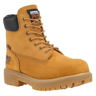 Men's Direct Attach Waterproof 6'' Work Boots - Steel Toe - Wheat Size 12(W)