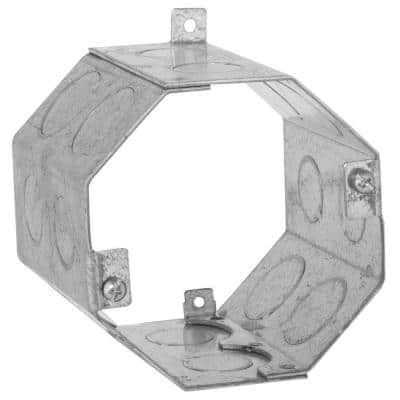 4 in. Octagon Welded Concrete Ring, 3-1/2 in. Deep with 1/2 and 3/4 in. Knockouts (20-Pack)