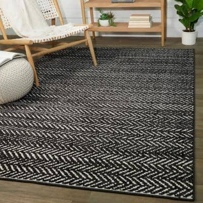 Tessin Charcoal 5 ft. x 7 ft. Contemporary Area Rug