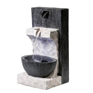 Modern Cascading Tabletop Fountain with LED Lights