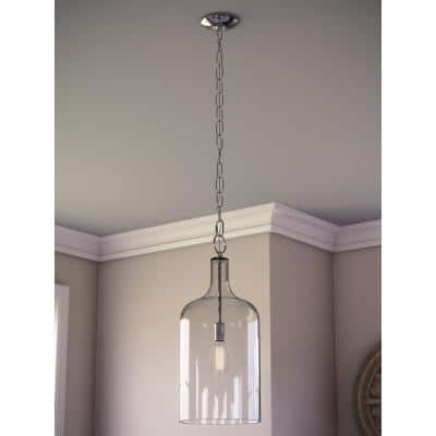 Capri 1-Light Clear Glass Pendant
