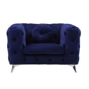 Blue Fabric Atronia Chair