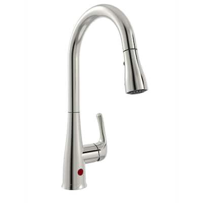 Belanger Single-Handle Pull-Down Sprayer Kitchen Faucet with Motion Sensor in Brushed Nickel