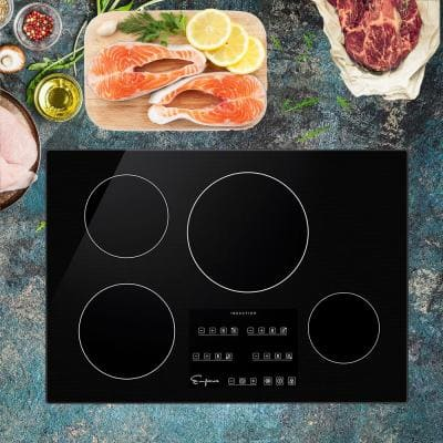 Built-in 30 in. Induction Electric Modular Cooktop in Black with 4 Elements