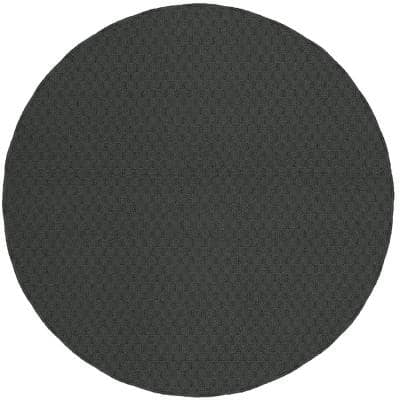 Town Square Cinder Gray 5 Ft. Round Area Rug
