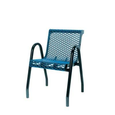 18 in. Diamond Green Portable Commercial Park Contour Food Court Chair