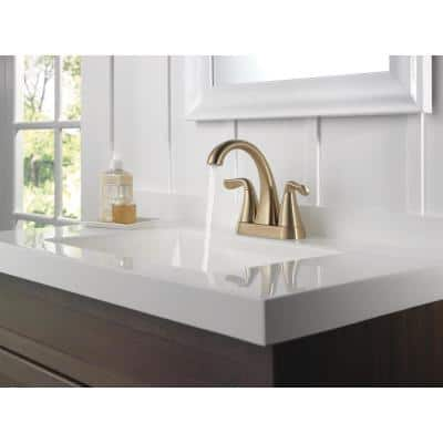 Arvo 4 in. Centerset 2-Handle Bathroom Faucet in Champagne Bronze
