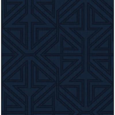 Kachel Indigo Geometric Wallpaper Sample