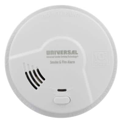 10-Year Sealed, Battery Operated, Dual Sensing 2-In-1 Smoke And Fire Detector, Microprocessor Intelligence
