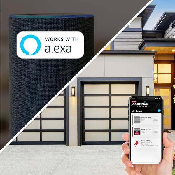 Genie B6172H Smart Wall Mount Garage Door Opener Sectional 850lbs ...