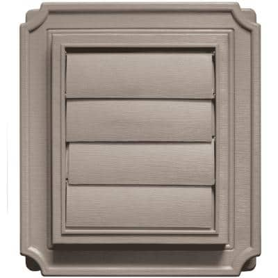 7.875 in. x 7.875 in. Scalloped Exhaust Siding Vent in Clay
