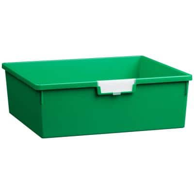 8 Gal. 6 in. Wide Line Double Depth Storage Tote in Primary Green