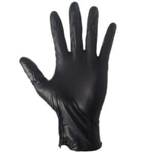 Extra-Large Black Nitrile Gloves 4 Mil (100-Box)