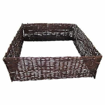 144 in. L x 48 in. W x 10 in. H Woven Willow Raised Bed Kit