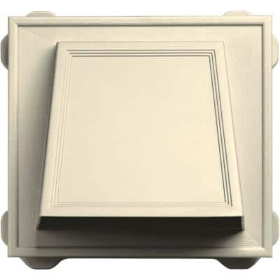 6 in. Hooded Siding Vent #020-Heritage Cream