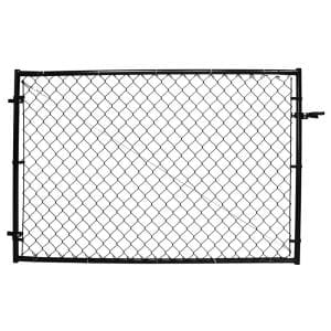 4 ft. H Adjustable Walk Gate Kit, Square Corner Frame - Black