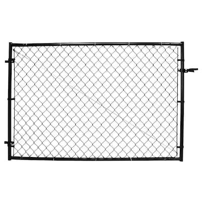 4 ft. H Adjustable Walk Gate Kit, Square Corner Frame - Black