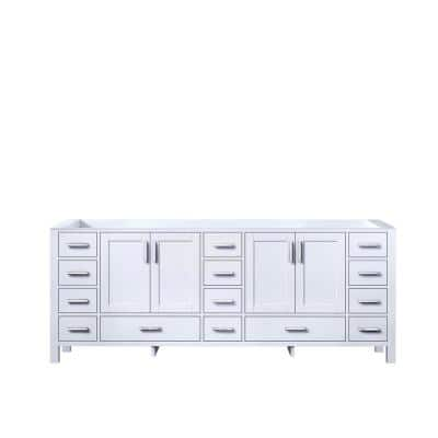 Jacques 83 in. W x 21.50 in. D  Bath Vanity Cabinet only in White
