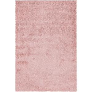 Davos Shag Dusty Rose Pink 6 ft. x 9 ft. Area Rug