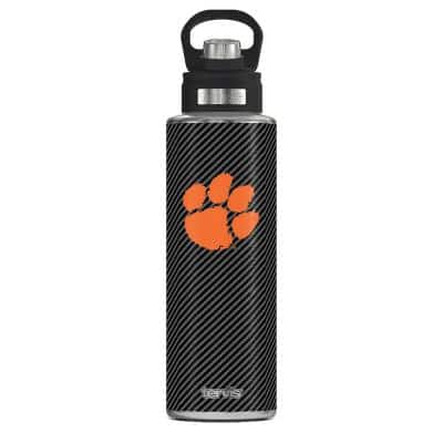 CL CLEMSON CFIBER 40 oz. Stainless Steel Wide Mouth Water Bottle Powder Coated Standard Lid