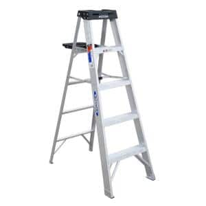 5 ft. Aluminum Step Ladder with 300 lb. Load Capacity Type IA Duty Rating