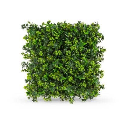 20 in. x 20 in. Mix Leaf Foliage Indoor/Outdoor Artificial Hedge Panels (8-Pack)