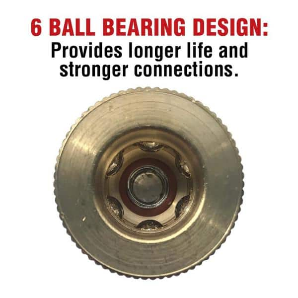 Primefit 1 4 In Industrial 6 Ball Brass Coupler With 1 4 In Male Npt Ic1414mb6 The Home Depot