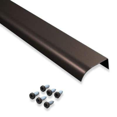 2 in. x 5 ft. Brown Fascia Mounted Aluminum Water Dispersal Gutter Edge Extension with Screws (5-Pack)