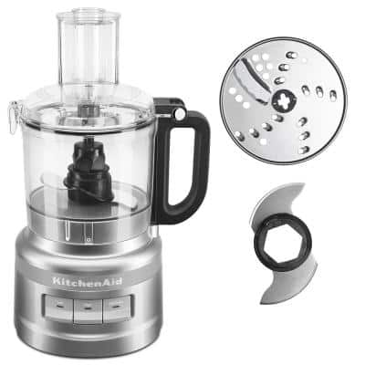 7-Cup 3-Speed Contour Silver Food Processor with Locking Lid