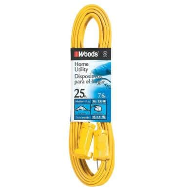 25 ft. 16/2 SPT-2 Flat Indoor Medium-Duty Utility Extension Cord, Yellow