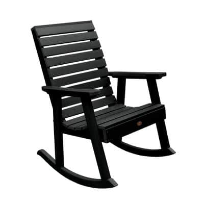 Black Rocking Chairs Patio, Wood Rocking Chair Outdoor Black
