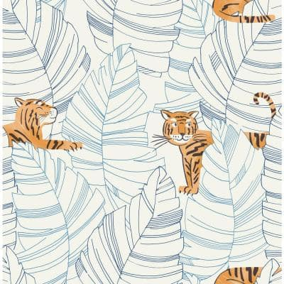 Hiding Tigers Paper Strippable Roll (Covers 56 sq. ft.)