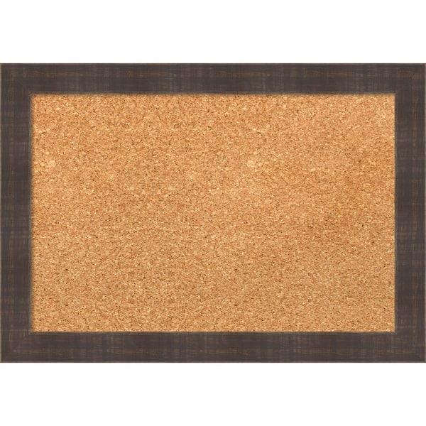 Corkboard with Brown Wood Frame