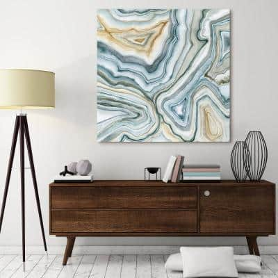 """Agate Abstract II"" by EAD Art Coop Frameless Free-Floating Tempered Art Glass Wall Art"