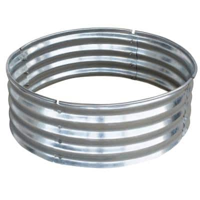36 in. x 12 in. Round Galvanized Steel Ring Wood and Coal Fire Pit Kit