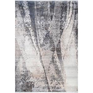 Lainey Distressed Abstract Beige 8 ft. x 10 ft. Area Rug