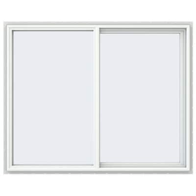 59.5 in. x 47.5 in. V-4500 Series White Vinyl Right-Handed Sliding Window with Fiberglass Mesh Screen