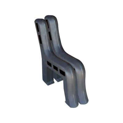 Graphite Outdoor Traditional Bench Ends Made From Rotomolded UV Stabilized Durable Polyethylene