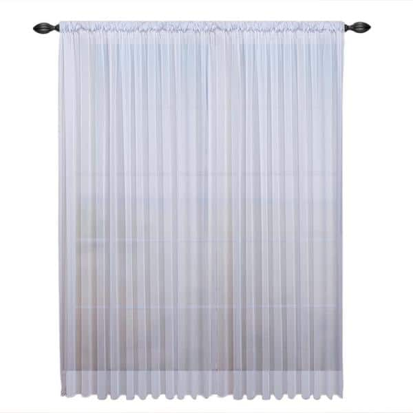 Ricardo Trading Tergaline 108 In W X, Double Rod Pocket Sheer Curtains