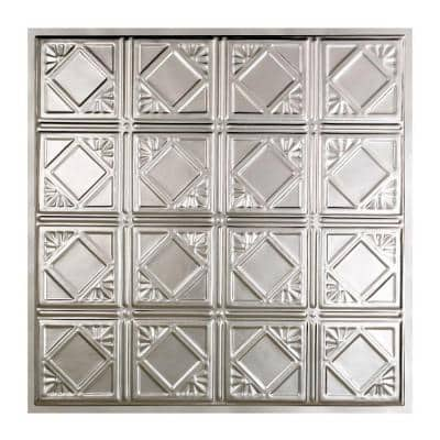 Ludington 2 ft. x 2 ft. Lay-In Tin Ceiling Tile in Unfinished (20 sq. ft./case)