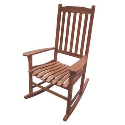 Wood Natural Stained Outdoor Rocking Chair