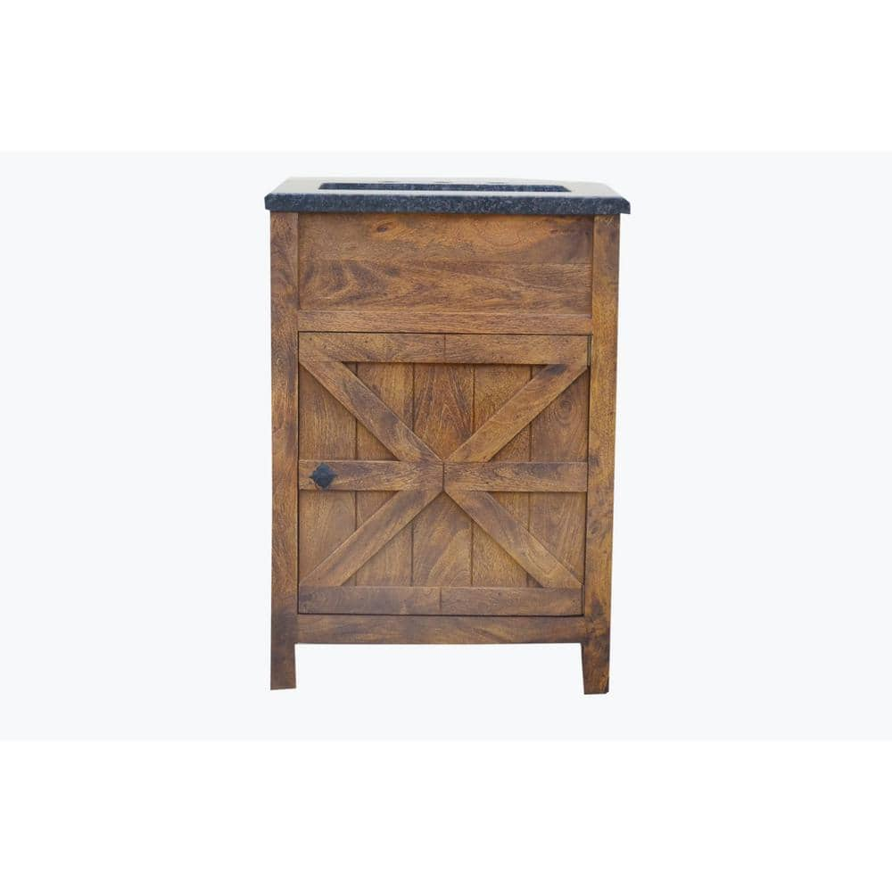 Traditional 24 In W Single Barn Door Vanity In Antique Finish Bv2124fs The Home Depot