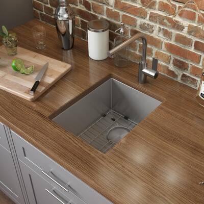 Gravena 16 Gauge Stainless Steel 14 in. Undermount Bar Sink