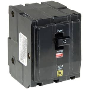 QO 30 Amp 3-Pole Plug-In Circuit Breaker