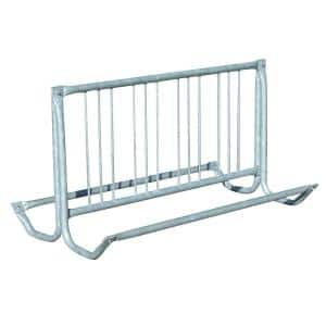 64 in. Silver Galvanized Traditional Bicycle Rack